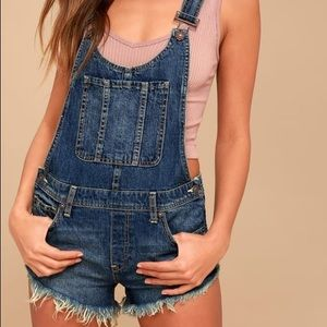 Free People Summer Babe overalls